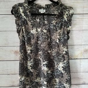 Converse one star floral blouse XL